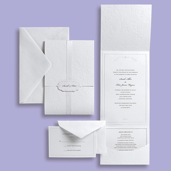 White Clic Wedding Invitation By Brides Collection Available At Michaels S Nationwide For The Diy Bride This Is Great Option