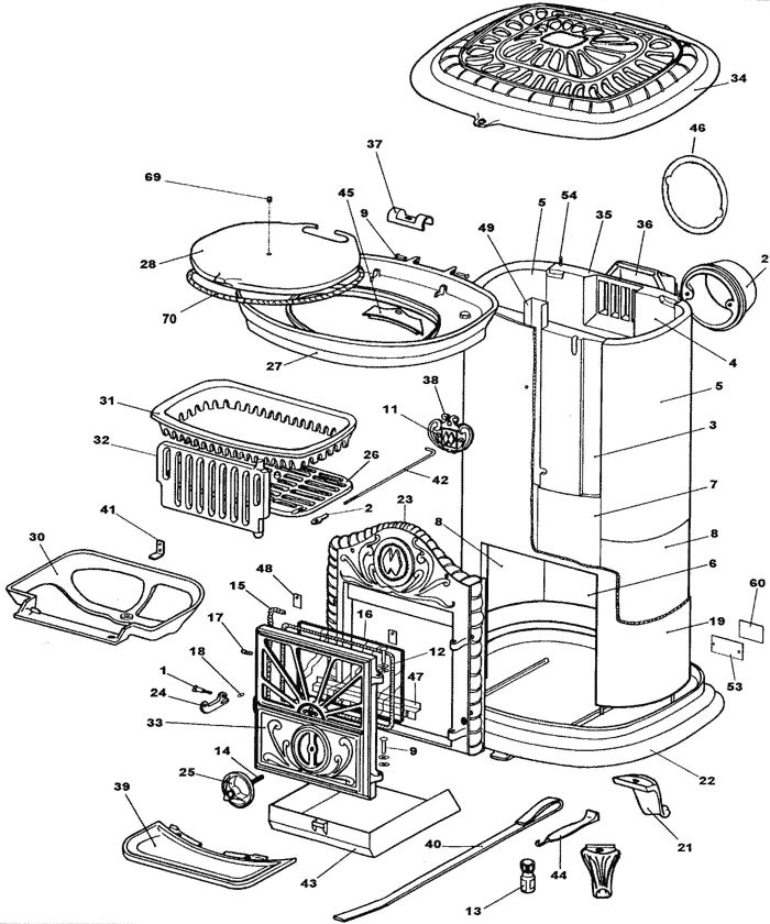 Parts Of A Wood Stove Diagram: 134 Best Burninate Images On Pinterest