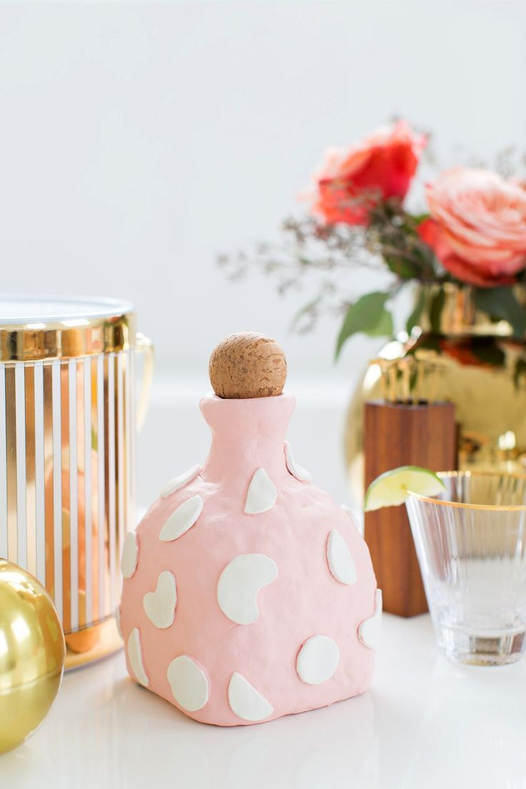 A cute statement DIY clay decanter made from an old Patron bottle!  | www.homeology.co.za