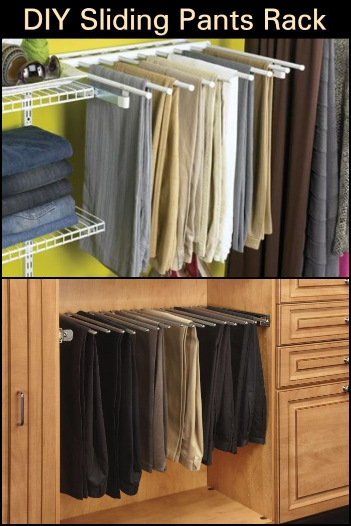Here S A Clever Way To Organize Your Pants Build A Diy Sliding