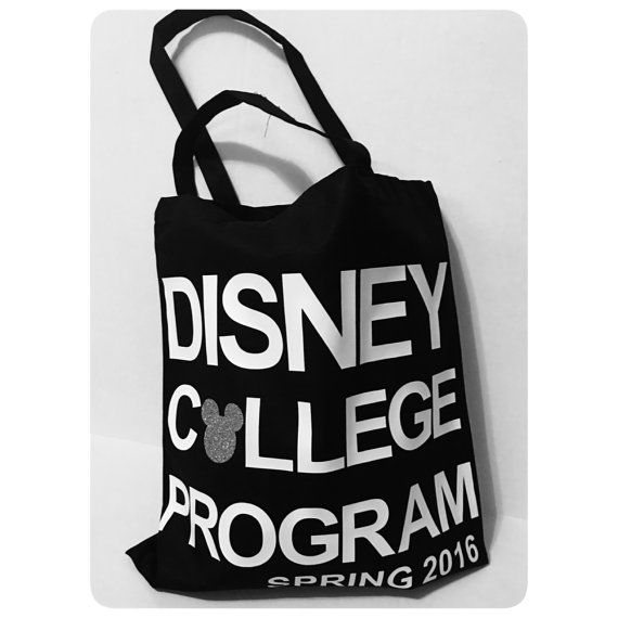 Disney College Program Tote Bag Color Cotton Canvas Disney World Disneyland Cast Member Vacation Book Backpack Spring Fall 2016 Internship