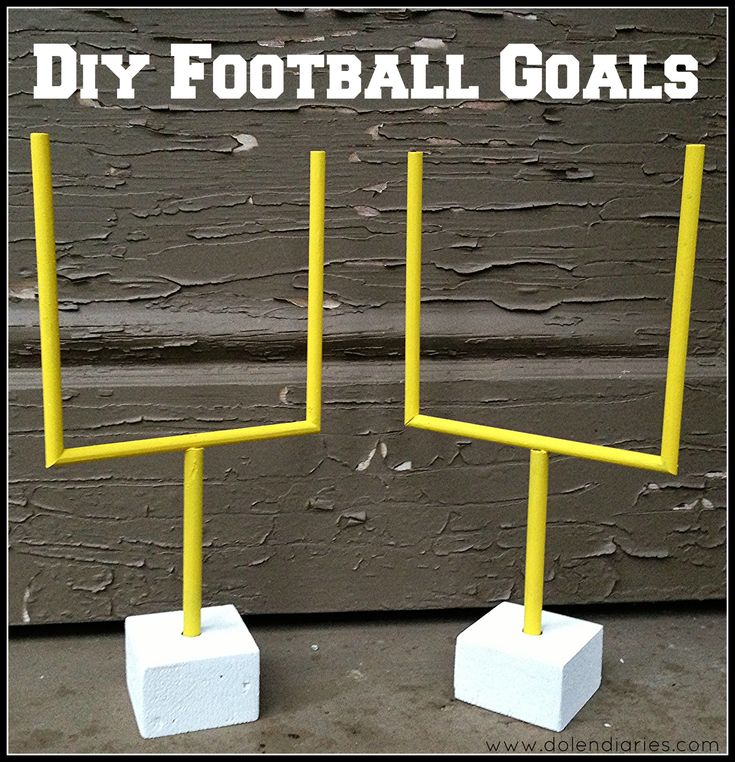DIY Football Goals for origami paper football games {Dolen Diaries}
