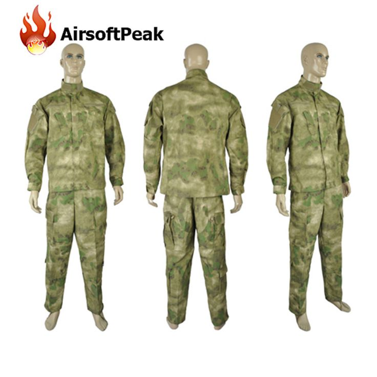Men Hunting Airsoft Ghillie Suit Combat Long Sleeve Field Jackets Coat Cargo Pant Military BDU Tactical Uniform Clothes Set