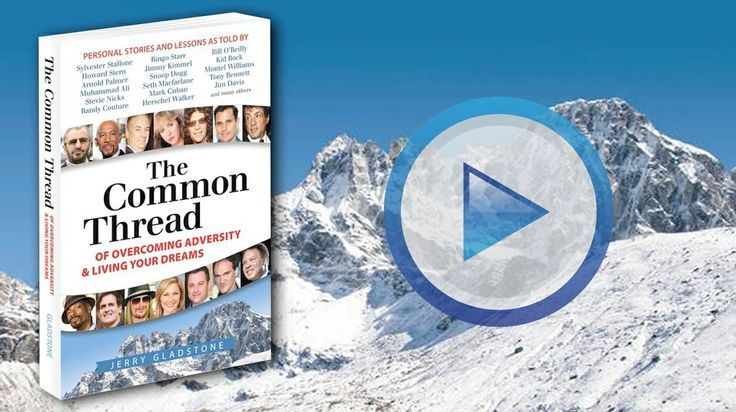 Watch my Book Trailer for The Common Thread of Overcoming Adversity & Living Your Dreams    https://www.youtube.com/watch?v=WK9amEqx6MQ