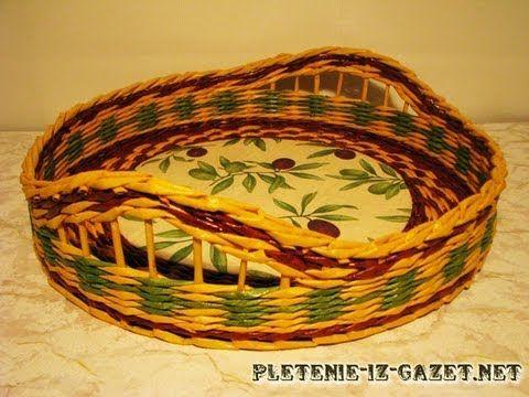 Плетение из газет зигзагом - Узоры.Мастер-классы