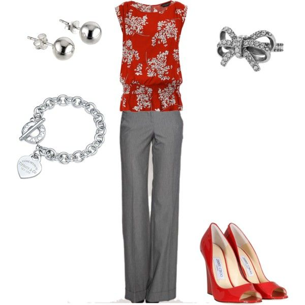"""red"" by vintagesparkles78 on Polyvore"