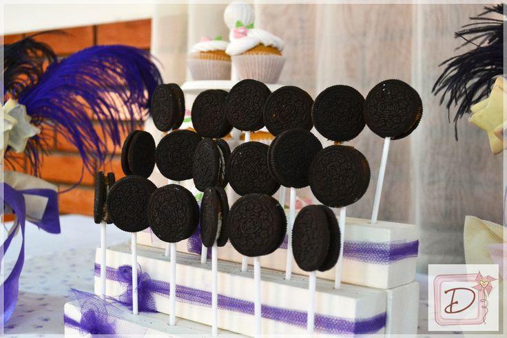 Chupetines de oreo #fiesta #cumpleaños #festejo #decoración  #tematización  #golosinas #cocina #chocolates  #mesadulce
