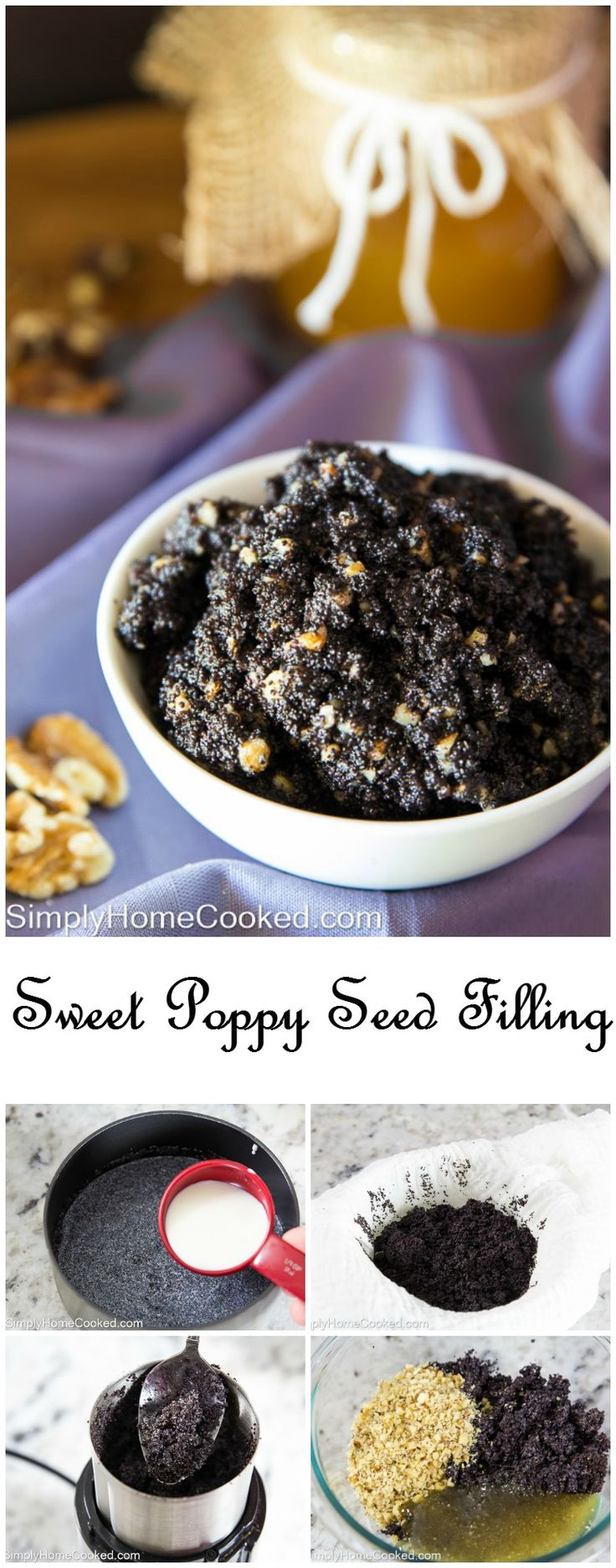 Homemade poppy seed filling- a staple in Russian baking. This sweet treat only requires 4 ingredients.