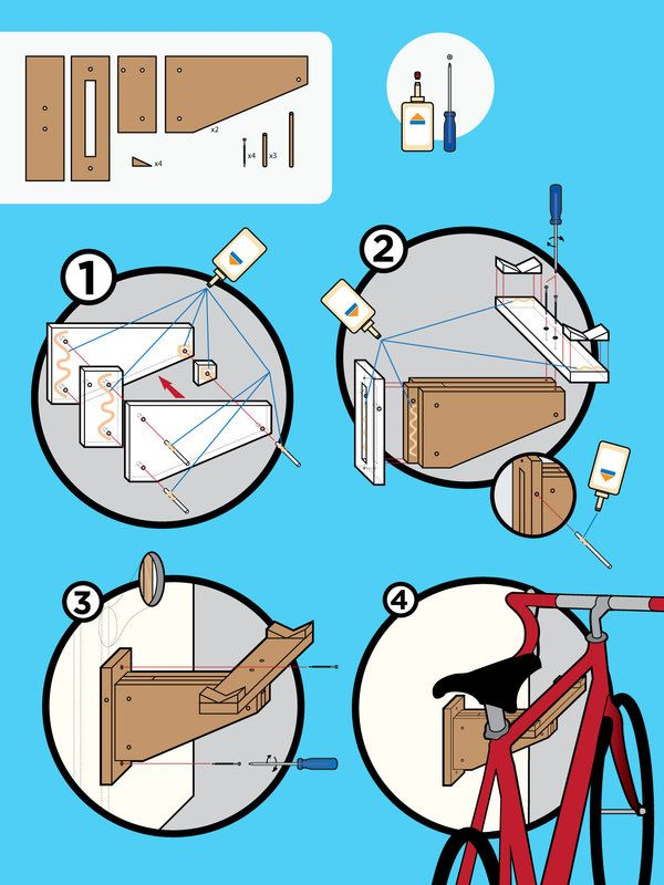 Bike Rack Kit Instructions by Brian Talbot, via Behance