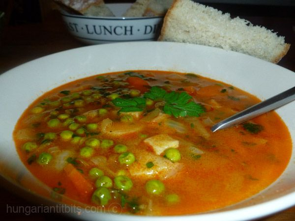 Hungarian Pea Soup- like my mother makes it