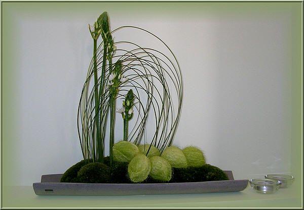 gebogen bloemstuk zelf maken met uitleg en foto's