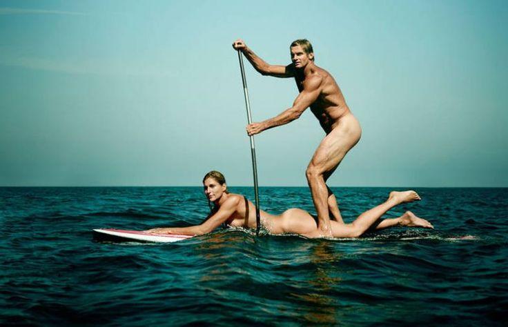 Габриэль Рис и Лэрд Хэмилтон, 45 и 51 год, бывшая пляжная волейболистка и сёрфер