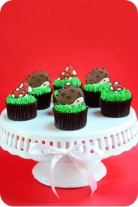 Chocolate Hazelnut Cupcake Recipe and Hedgehog Toppers