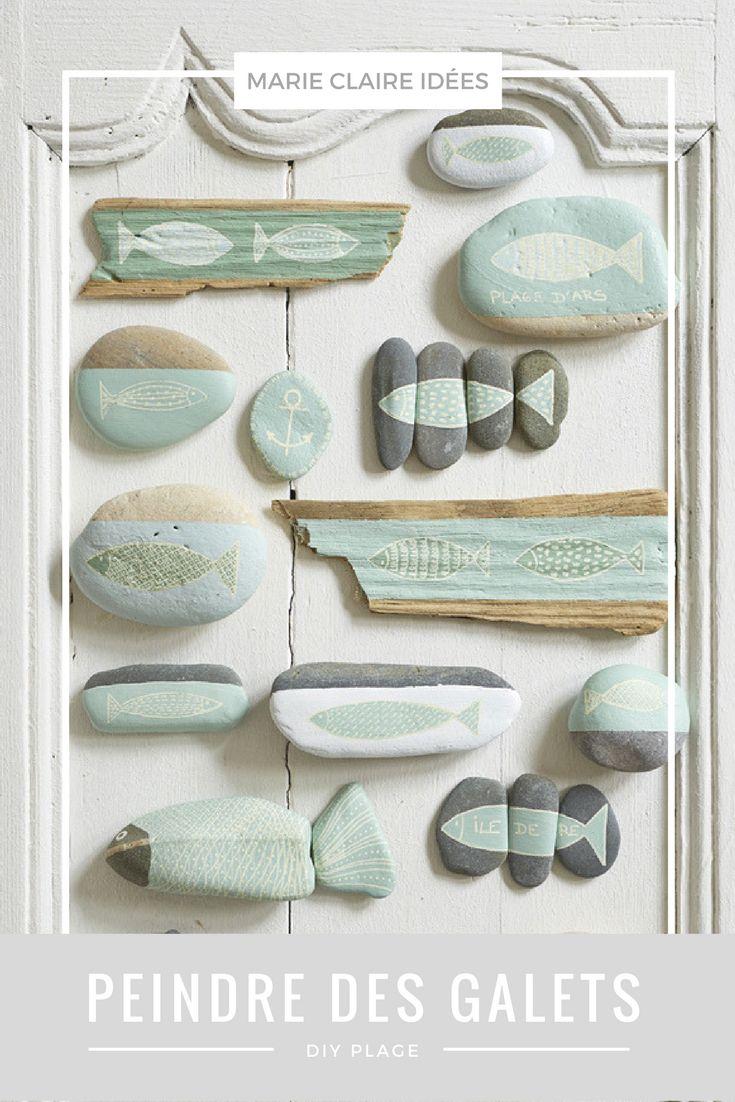 DIY retour de plage: peindre sur des galets - Marie Claire Idées