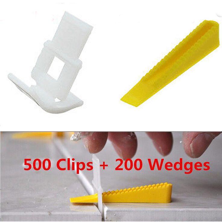 700 Tegel Leveling Systeem-500 Clips 200 Wiggen-Tegel Leveler Spacers Lippage Voor Betegelen Gereedschap