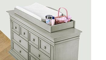 Baby Cache Vienna Changing Topper - Ash Gray