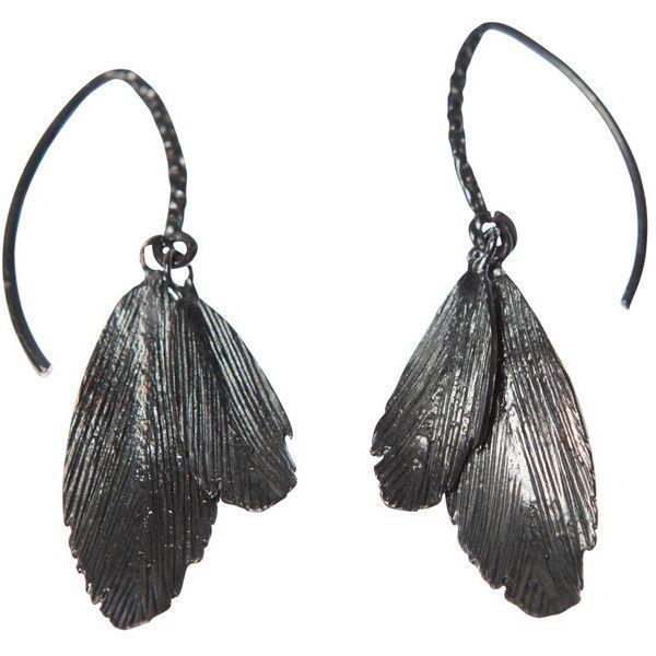 Raven Earrings Fish Hook Oxidised Silver by Aurum By Gudbjorg ($107) ❤ liked on Polyvore featuring jewelry, earrings, black, ravens, magnetic earrings, silver jewelry, fishhook earrings, magnetic jewelry and oxidised silver jewellery