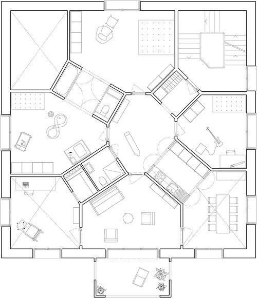 Atelier Scheidegger Keller  Three Apartments, Berne, Switzerland, 2012