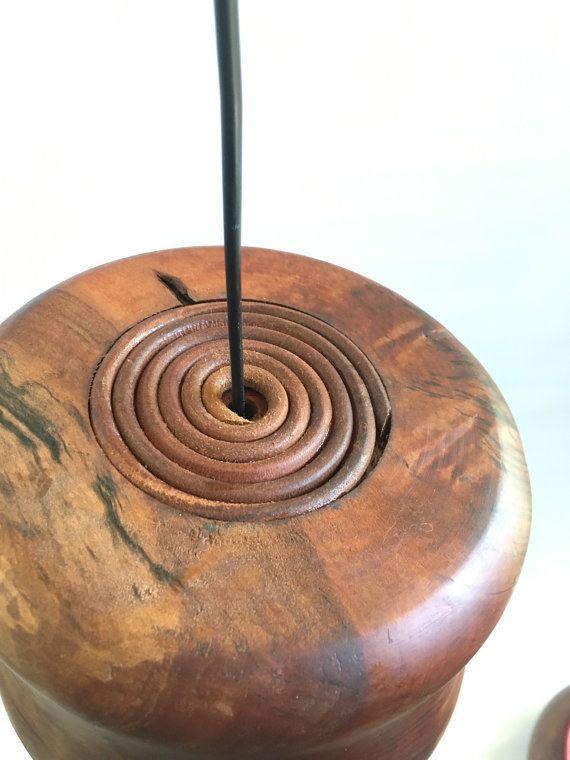 Mango Wood and Leather Pendant Light Shade