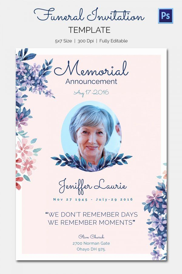 Memorial Card Template Free Awesome Free Funeral Cards Negocioblog Funeral Invitation Memorial Cards For Funeral Funeral Templates