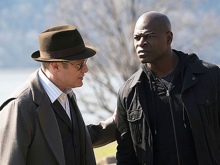 "James Spader (as Raymond ""Red"" Reddington) and Hisham Tawfiq (as Dembe ..."