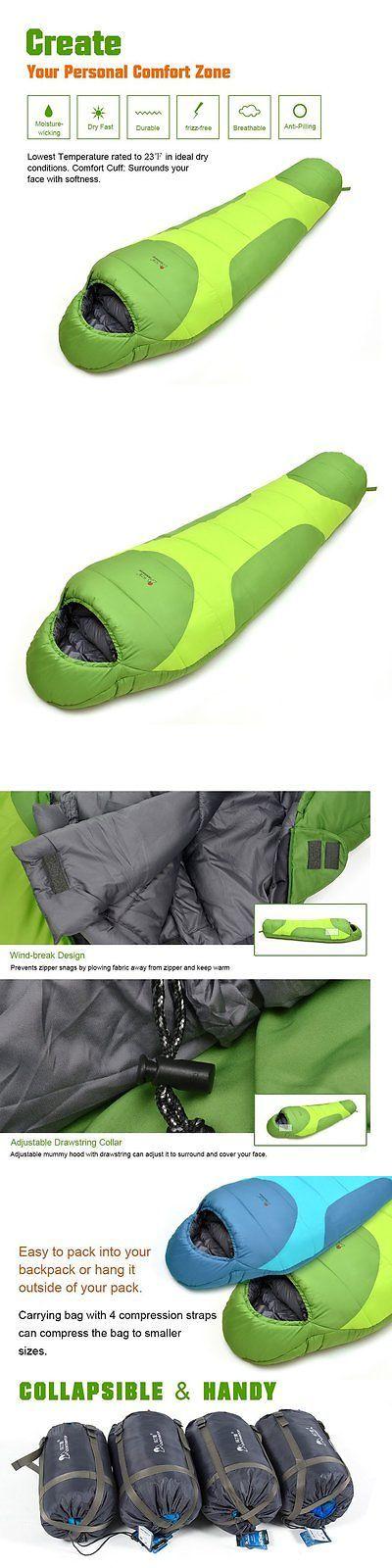 Sleeping Bags 87100: Mountaintop Mummy Sleeping Bag Lightweight Backpacking Sleeping Bags For Adults -> BUY IT NOW ONLY: $54.99 on eBay!