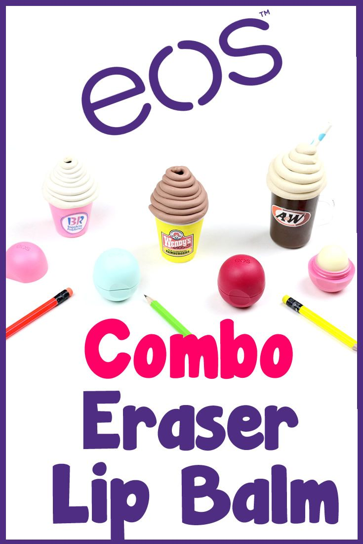 Balm christmas gift turn old eos containers into cool crafts ideas - Diy Crafts Diy Eos Eraser Combo 3 Ice Cream Inspired Eos Lip Balm