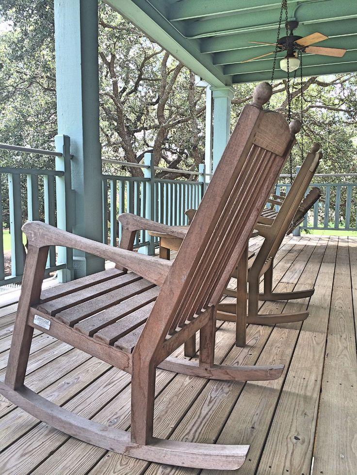 Rocking Chairs / Sunday House / Texas Hill Country / San Antonio Resorts /  Texas Travel