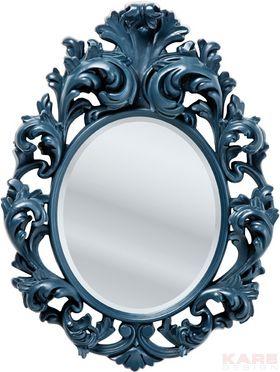 Mirror Barocco Black 110x81cm