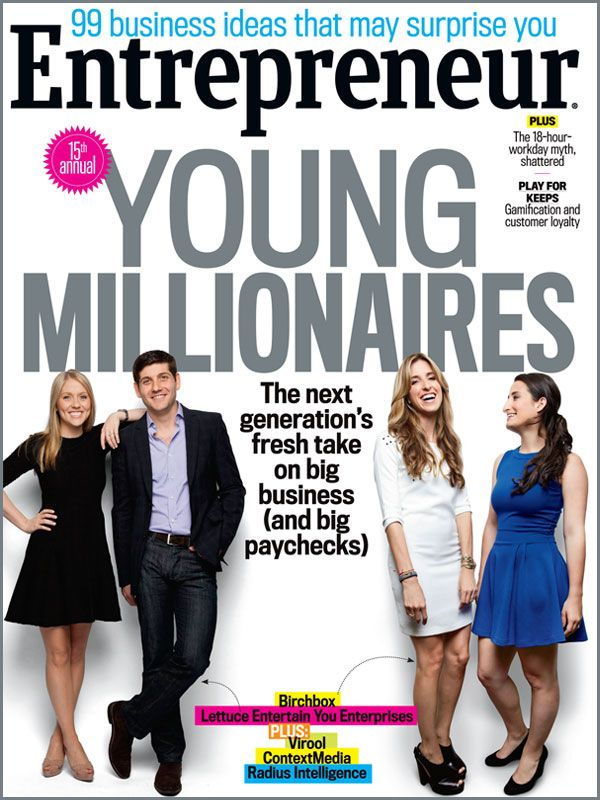 Entrepreneur magazine's Young Millionaires - September 2013