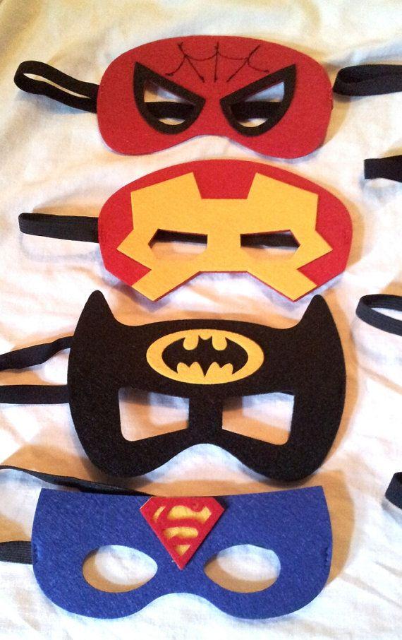 SALE One 1 Felt Superhero Mask Superman Batman by SuperFlySprouts