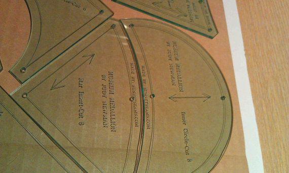 Museo medallón tejido  costura de 1/4 de pulgada 6 pedazos