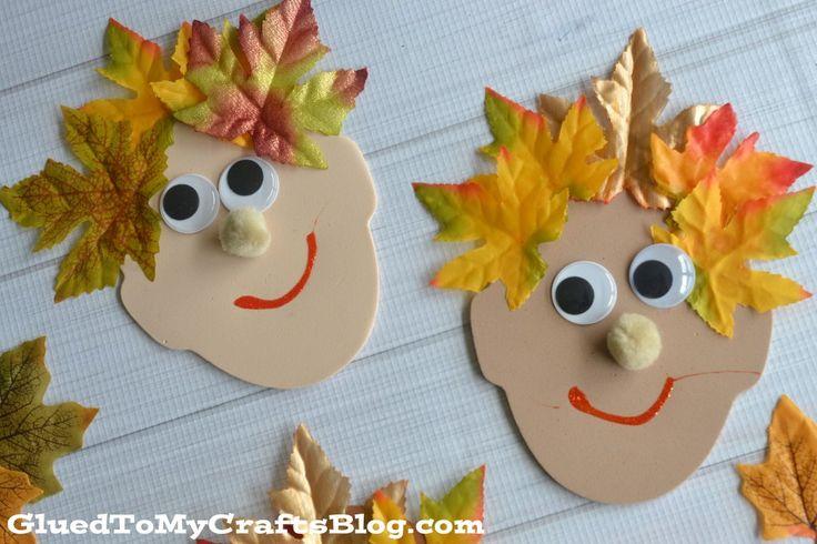 Silly Leaf Hair - Kid Craft