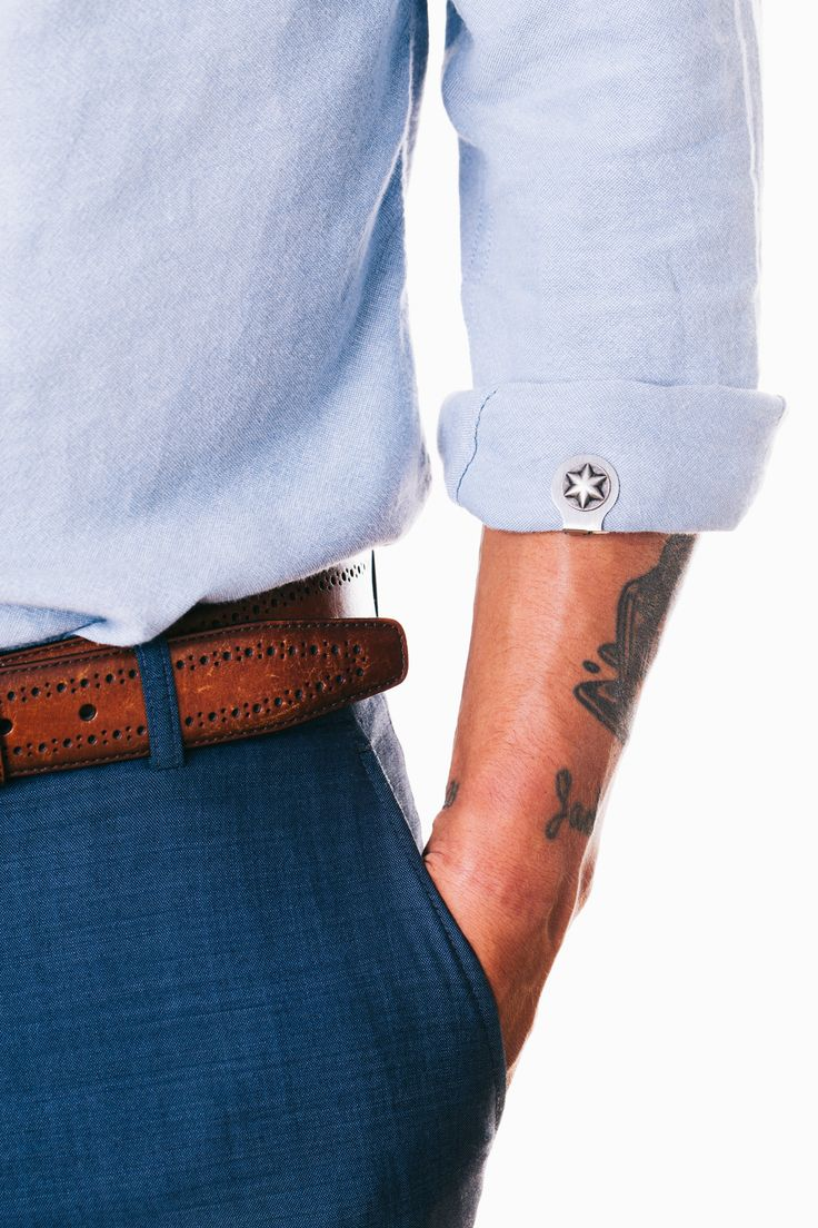 Sleeve Clips.  New way to fasten & adorn rolled up sleeves.   R.I.P. cufflinks, long live cufflinks 2.0, a new type of cufflink for men who know how to roll. Your rolled sleeves deserve better. They deserve Sleeve Clips.  Made in Los Angeles