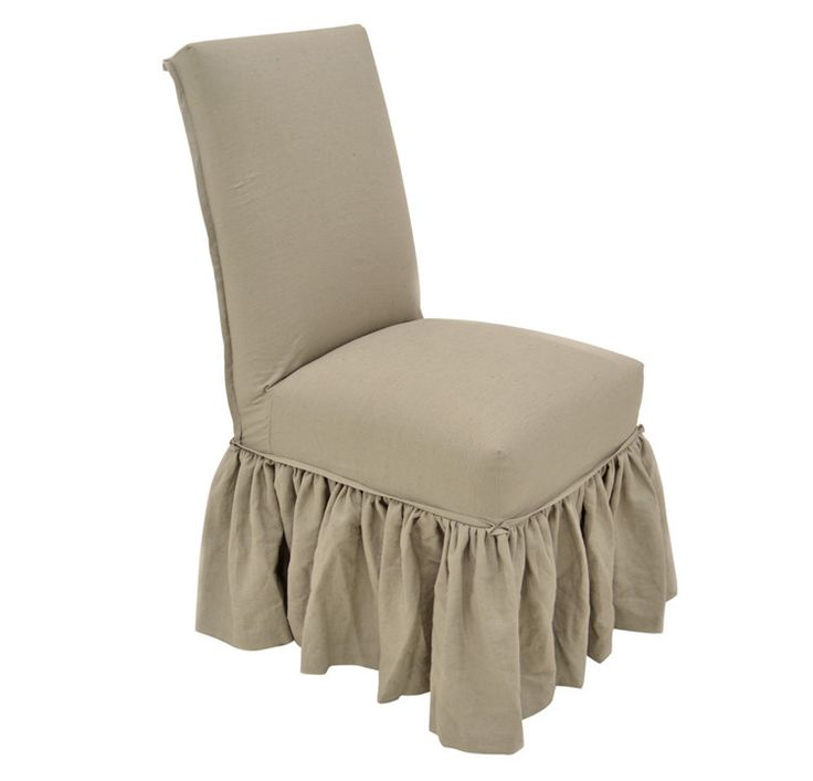 Quatrine Slipcovered Parsons Dining Chair With Ruffle Skirt