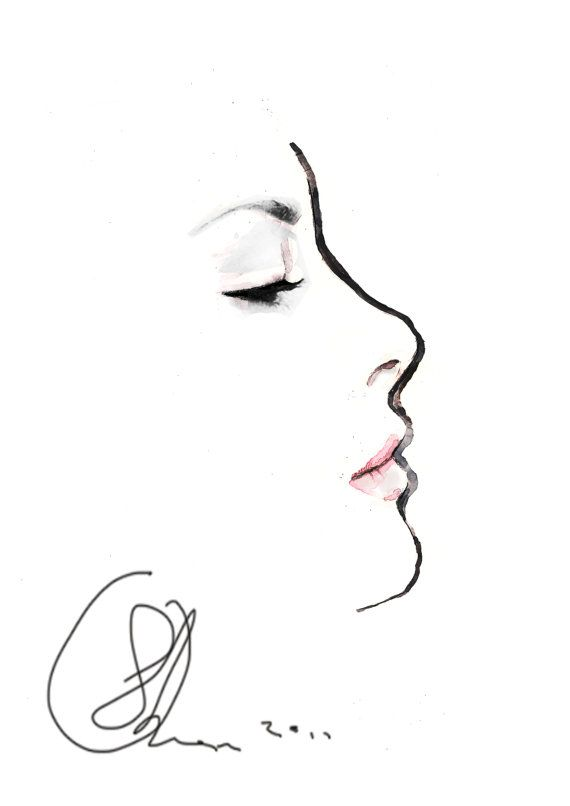 Side Face Line Drawing : Best dibujos images on pinterest faces fashion