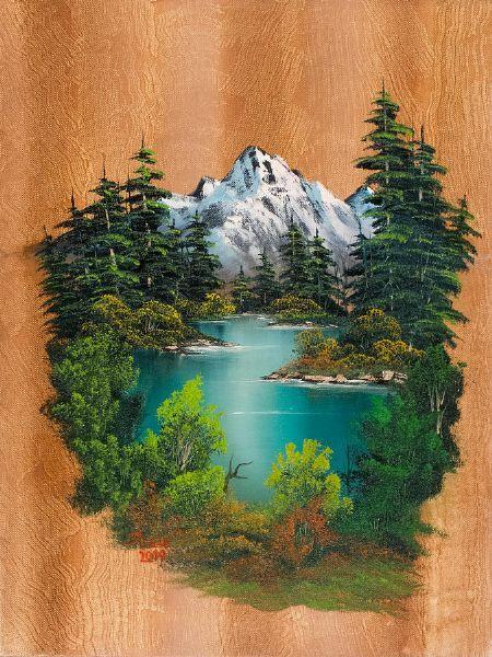 Bob Ross Autumn Paintings | bob ross fishermans paradise painting oil paintings prints art bob ...