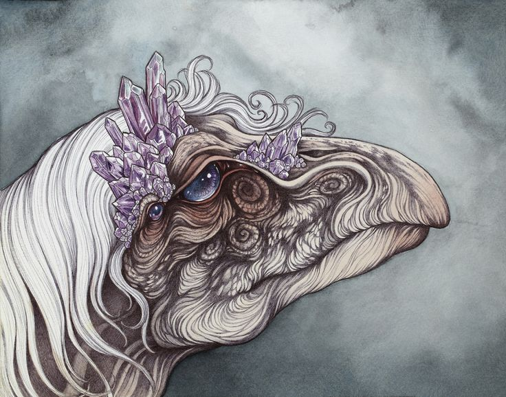 "The Eldest of the Mystics, this original 11″ by 14″ piece was inspired by ""The Dark Crystal"", this painting is available for sale now through Gallery 1988 West at..."