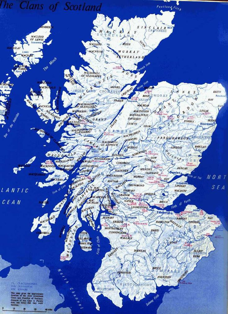 Map of Scotland and surname locations #genealogy #Scotland