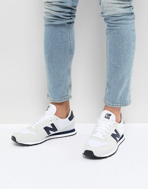 e3a8d9c6ec92f New Balance 500 Trainers In White | Clothes | Sneakers nike, New balance,  Air max sneakers