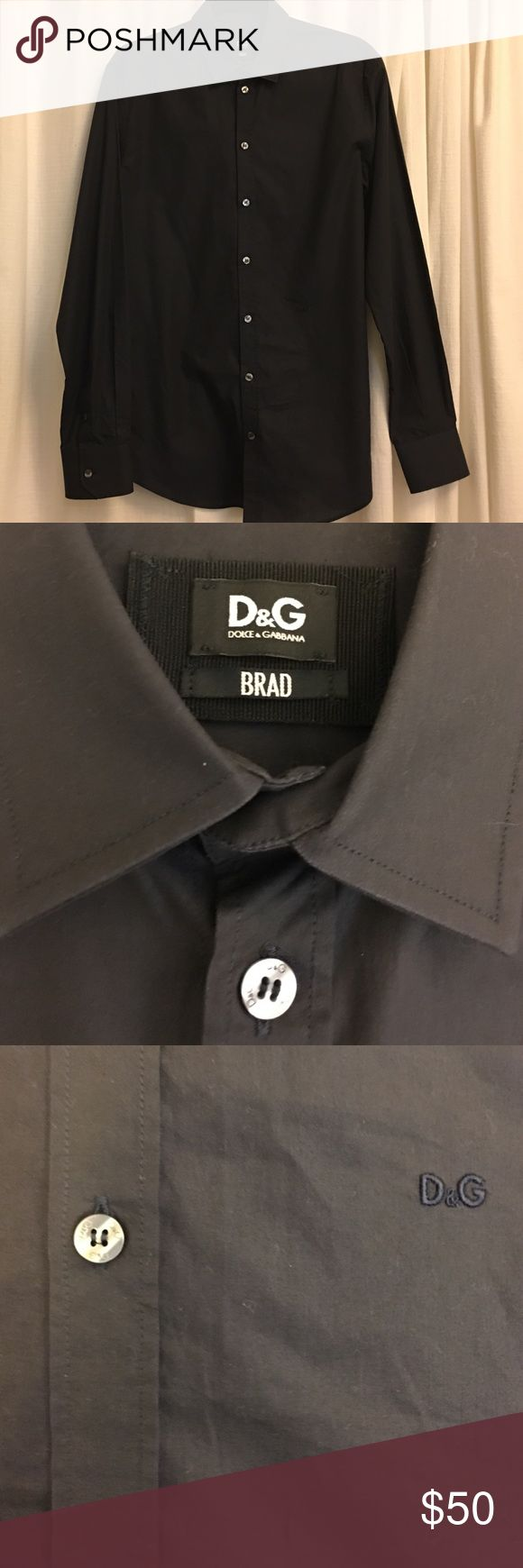 Dolce & Gabbana Slim Dress Shirt - Navy, Sz 16 Great color - dark navy blue. Worn only a handful of times and in flawless condition. Dolce & Gabbana Shirts Dress Shirts