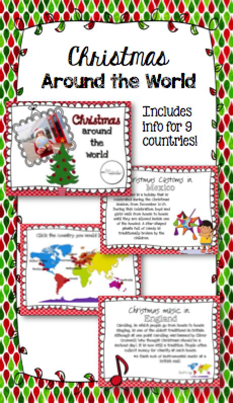 Christmas Around The World Craft Ideas Part - 31: Christmas Around The World Set. Travel ActivitiesMusic ...