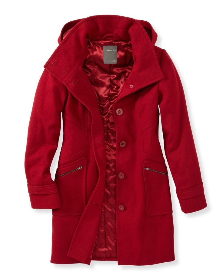 SMART SET - Collection - WOOL COAT: Hottest Color, Dream Closet, Red Coats, Wool Coats