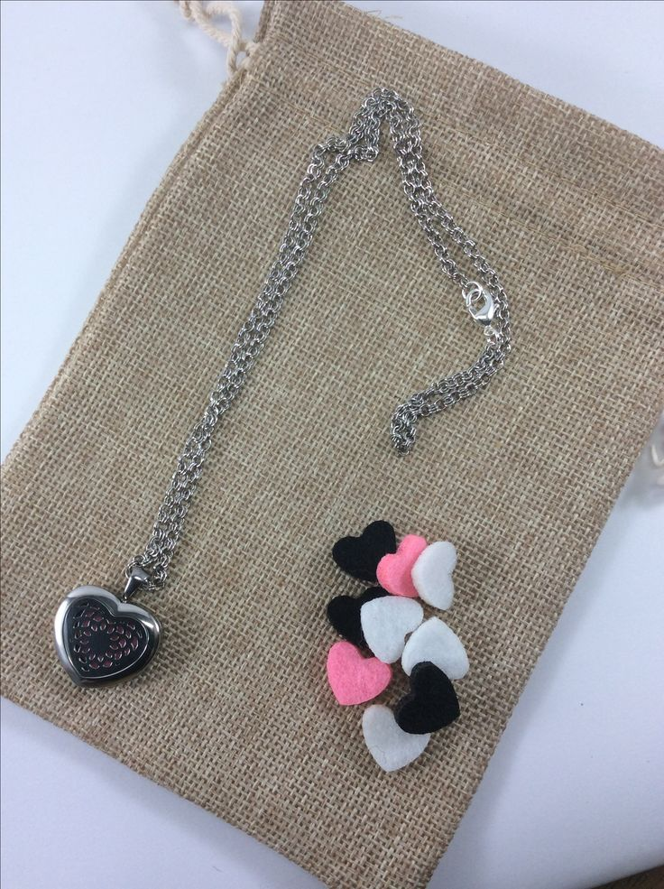 Essential oil diffuser jewellery, add oil to felt. All orders come with 1ml vial of Wild Orange and woven bag.