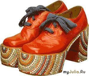 Мода 70 х годов обувь