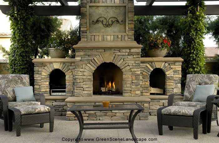 This is the way to light my fire...outside anyway!: Stones Fireplaces, Idea, Outdoor Living, Outdoor Rooms, Outdoor Fireplaces, Backyard, Firepit, Outdoor Spaces, Fire Pit