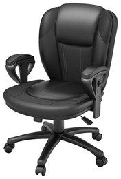 Z-Line Designs - Leather Office Chair - Black