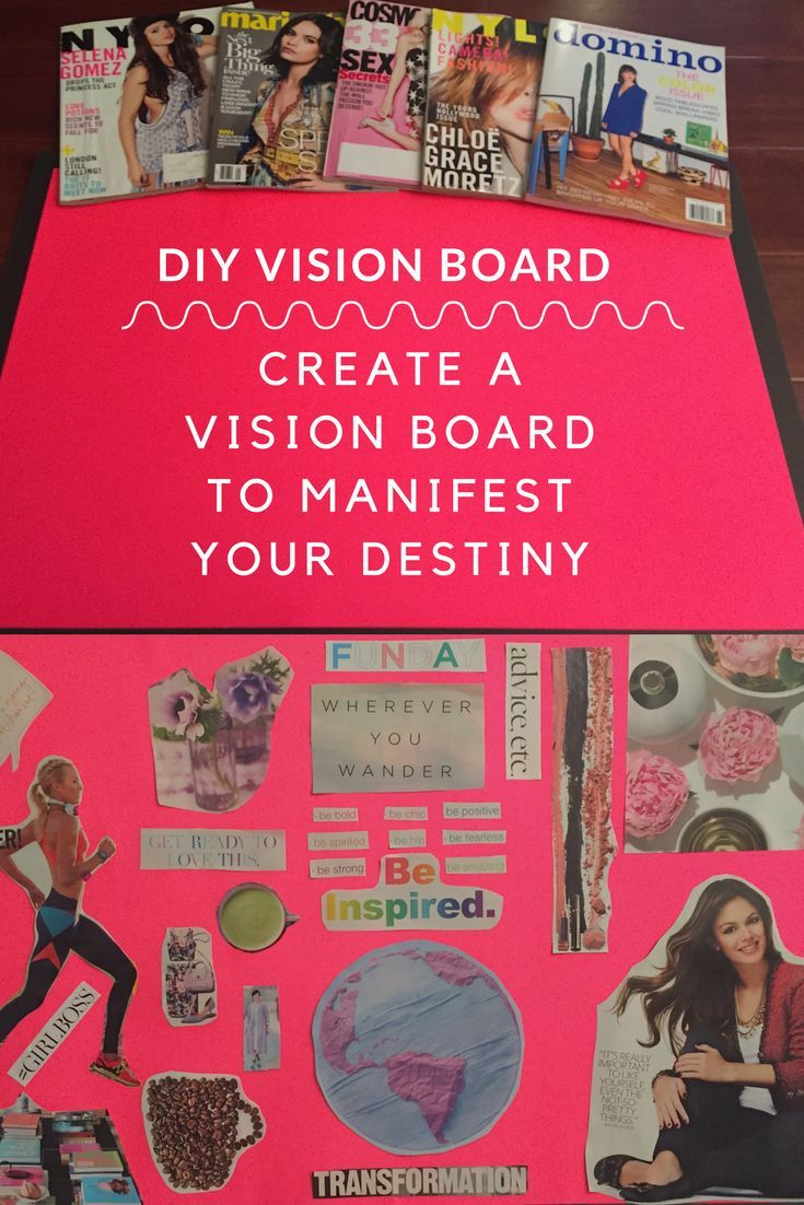 Manifest Your Destiny By Welcoming The Law Of Attraction Via Vision Boards