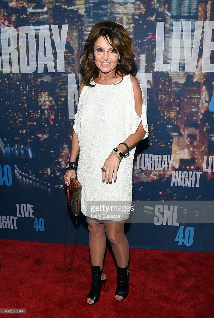 Sarah Palin attends SNL 40th Anniversary Celebration at Rockefeller Plaza on February 15, 2015 in New York City.