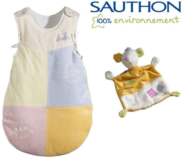 COLORS - Gigoteuse bébé 0-4 mois + Doudou Mouchoir - Pour l'arrivée de bébé